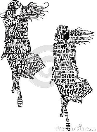 Fashion Girls Typography