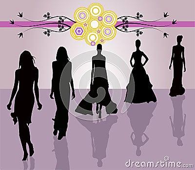 Fashion girls - vector