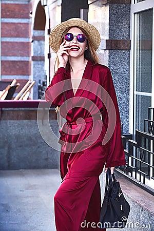 Free Fashion Glam Model Beautiful Pretty Face Skinny Body Wear D Stock Photo - 96572290