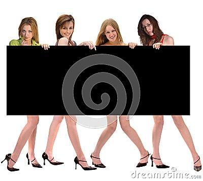 Fashion Group with Billboard