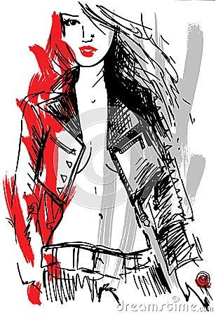 Rock girl sketch