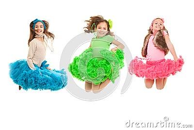 Fashion kids jumping