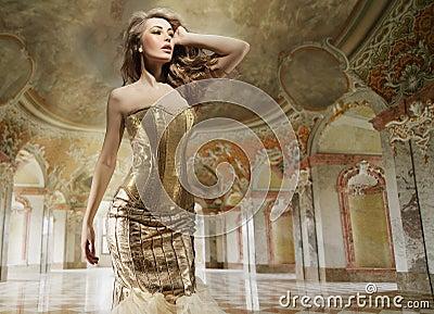 Fashion lady in a stylish interior