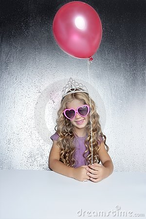 Fashion little party girl red balloon