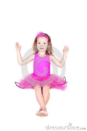 Fashion little princess girl humor portrait