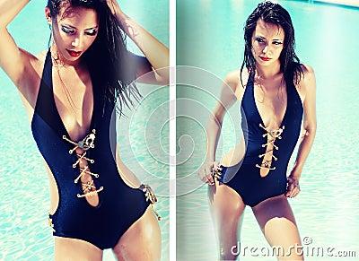 Fashion magazine swimsuit spread