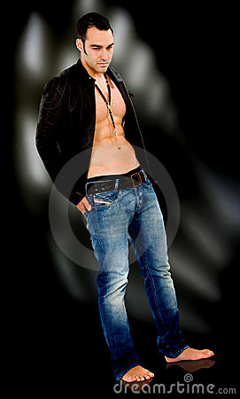 Fashion male model standing