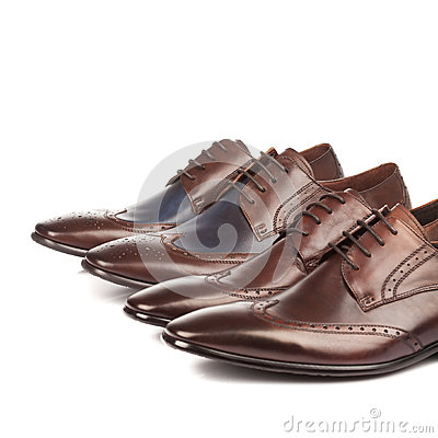 Fashion Male shoes brown color on white