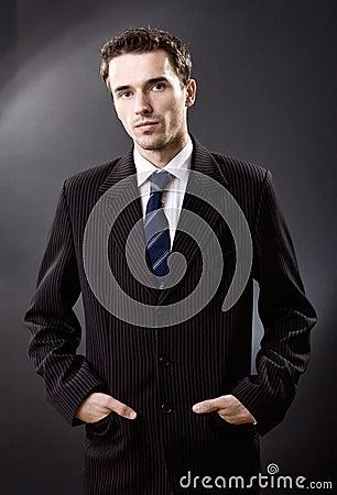 Fashion man portrait male model suit studio shot