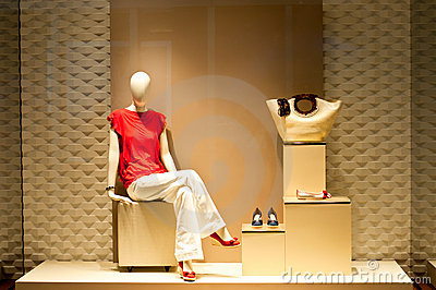 Fashion Footwear Retailer on Fashion Mannequin Display  Click Image To Zoom