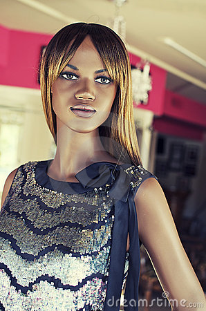 Fashion mannequin in store