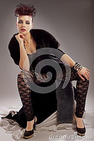 Fashion model with attitude