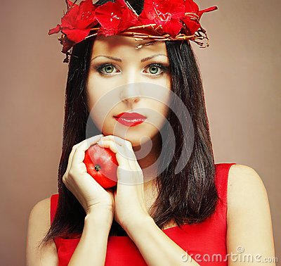 Fashion model - beautiful female face