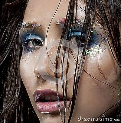 Fashion model beauty girl - sexy fresh face
