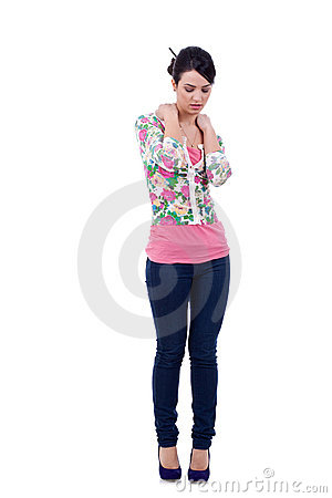 Fashion model in casual clothing