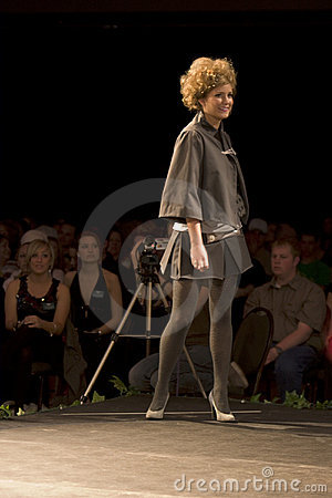 Fashion model on a catwalk Editorial Stock Photo