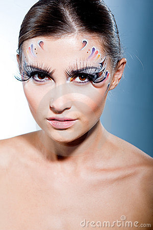 Fashion Model With Face Art Makeup Royalty Free Stock ...
