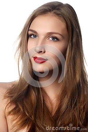 Free Fashion Model Girl Portrait With Long Blowing Hair. Glamour Beautiful Woman With Healthy And Beauty Brown Hair. Hair Cosmetics Royalty Free Stock Image - 65735976