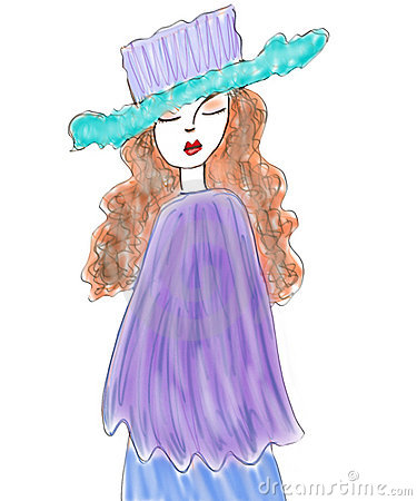Fashion model illustration
