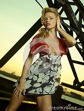 Fashion Model Iron Sunset