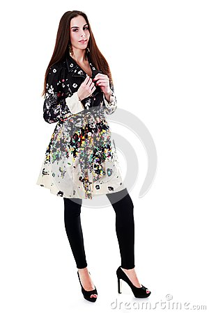 Free Fashion Model Isolated Royalty Free Stock Photography - 51856657