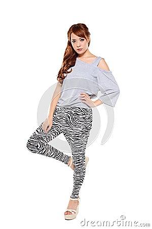 Fashion model pose