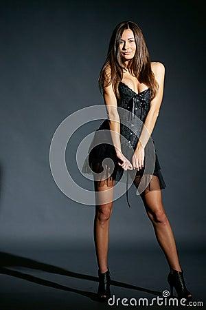 Fashion model studio portrait