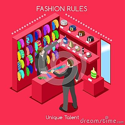 Free Fashion Moods 03 People Isometric Stock Images - 65959274