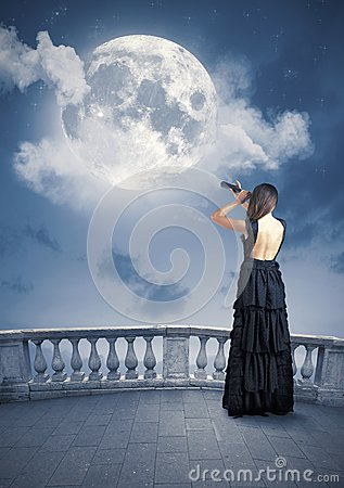 Fashion and moon