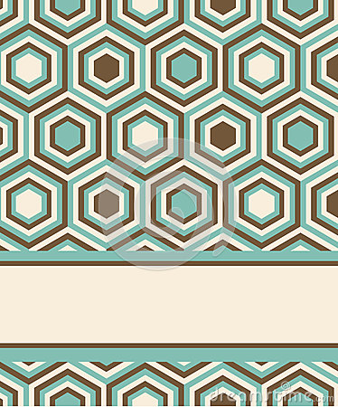 Free Fashion Pattern With Hexagons Stock Image - 29447601