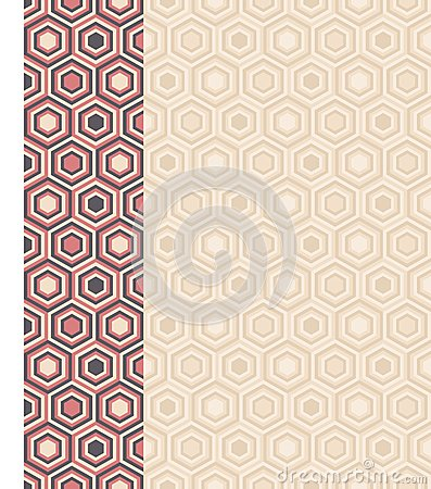 Free Fashion Pattern With Hexagons Royalty Free Stock Photo - 29447625