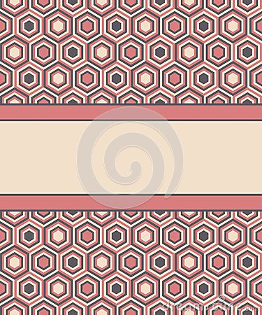 Free Fashion Pattern With Hexagons Royalty Free Stock Images - 29447629