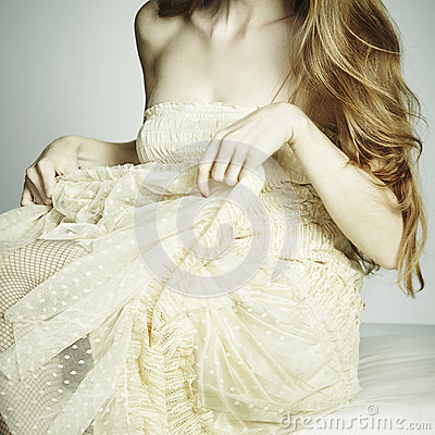 Free Fashion Photo Young Sexual Woman Sitting On A Sofa Royalty Free Stock Image - 25123536