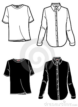 Free Fashion Plate Shirt And T-Shirt Royalty Free Stock Images - 509159
