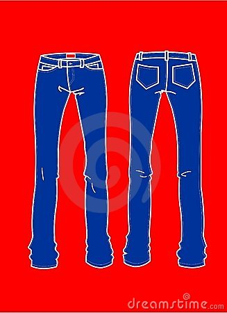 Fashion Plates Blue Jeans