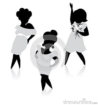 Fashion Plump Women silhouette
