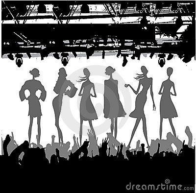 Fashion Podium Silhouette