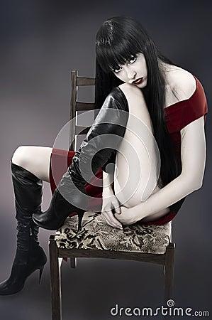 Fashion. Portrait of beautiful woman