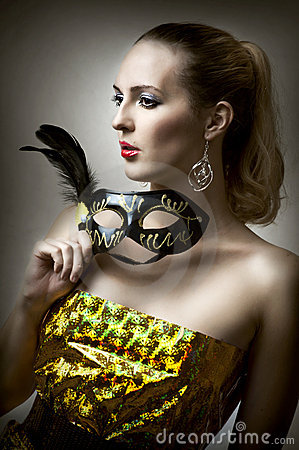 Fashion portrait of glamour woman