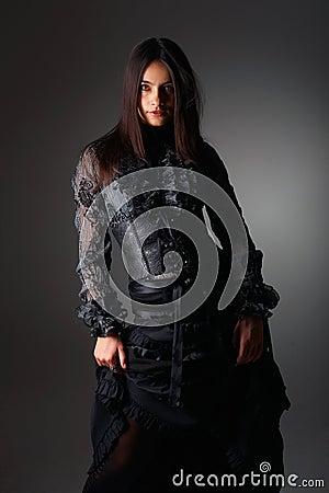 Fashion portrait in lace corset