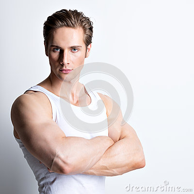 Free Fashion Portrait Of Handsome Young Man. Royalty Free Stock Photos - 44526378