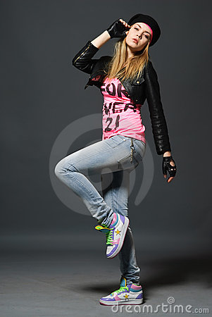 Free Fashion Portrait Of Young Casual Girl Royalty Free Stock Images - 14386849