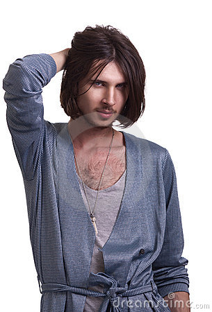 Fashion portrait of young attractive men