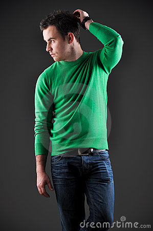 Fashion portrait of a young male model