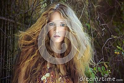 Fashion portrait of young sensual woman