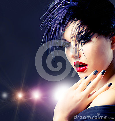 Free Fashion Punk Girl Royalty Free Stock Photos - 26968958
