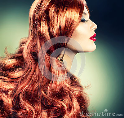 Fashion Red Haired Girl
