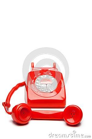 Free Fashion Red Telephone Royalty Free Stock Image - 19125466
