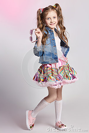 Free Fashion Redhead Girl In A Festive Outfit Posing And Smiling. Studio Photo On Light Coloured Background. Birthday, Holiday Stock Photos - 97010333
