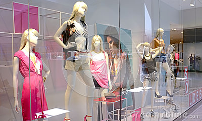 Fashion retail Editorial Stock Image